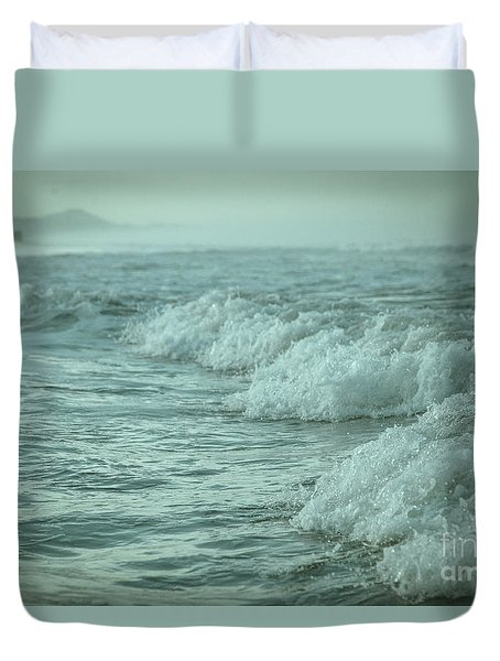 Near Waves Duvet Cover by Iris Greenwell