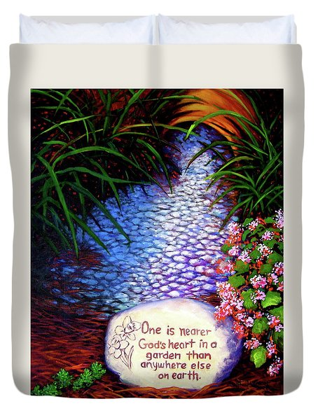 Garden Wisdom, Nearer Duvet Cover