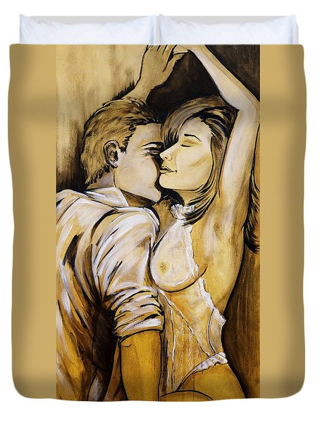 Nearly Naked Sepia Duvet Cover
