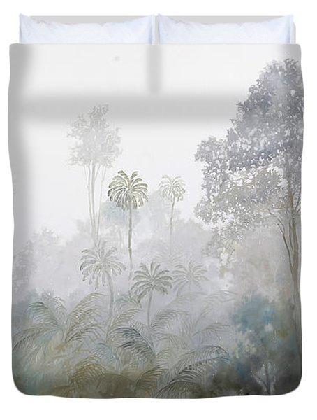 Nebbia Nella Foresta Duvet Cover