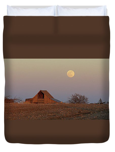 Nebraska Moon Duvet Cover by Thomas Bomstad