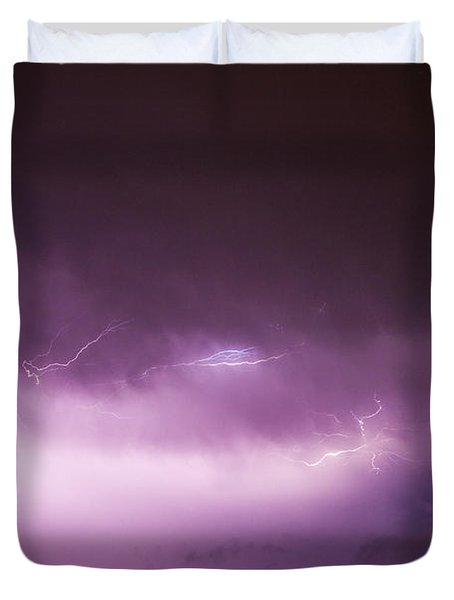 Nebraska Night Thunderstorms 013 Duvet Cover
