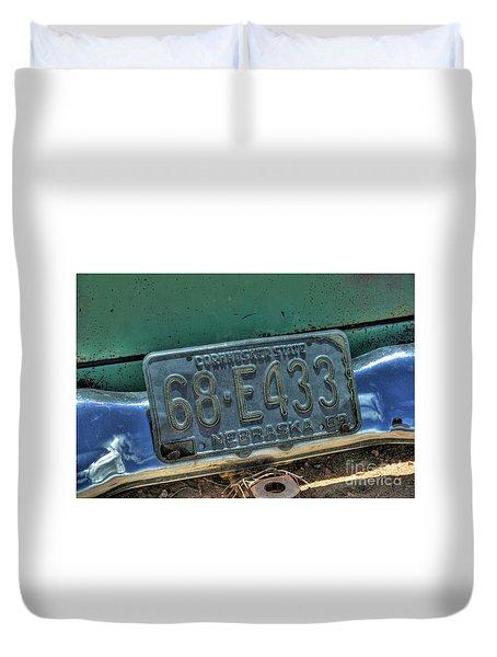 Nebraska Plate Duvet Cover