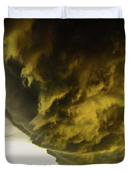 Nebraska Supercell, Arcus, Shelf Cloud, Remastered 018 Duvet Cover