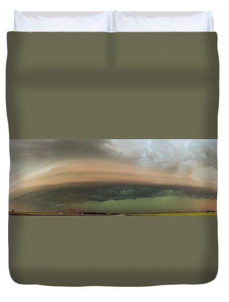 Nebraska Thunderstorm Eye Candy 020 Duvet Cover