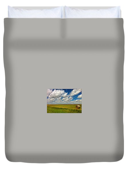 Nebraska Wheat Fields Duvet Cover