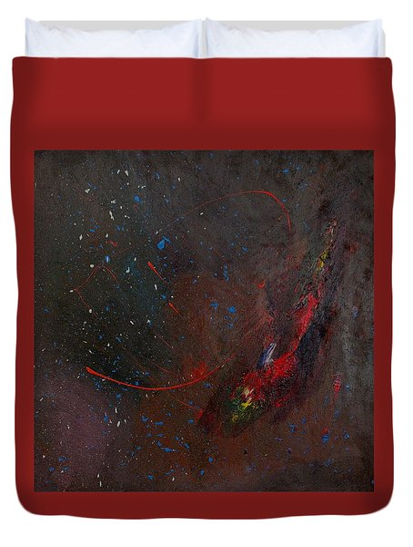 Duvet Cover featuring the painting Nebula by Michael Lucarelli