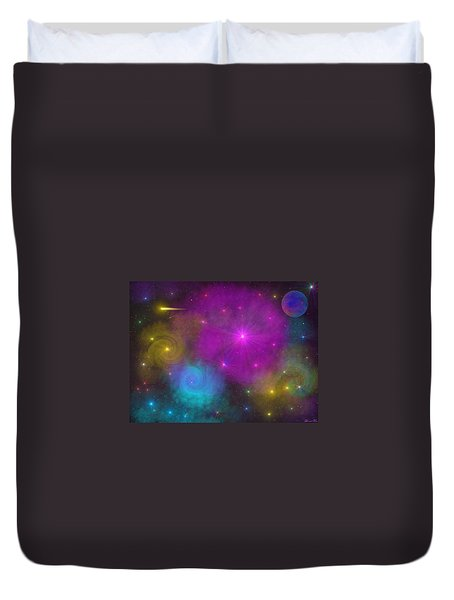 Duvet Cover featuring the photograph Nebula Wars by Bernd Hau