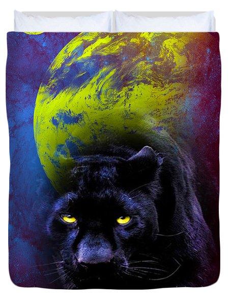 Nebula's Panther Duvet Cover