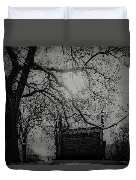 Duvet Cover featuring the digital art Necropolis Nine by Chris Lord