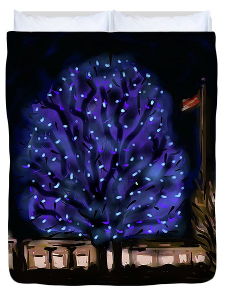 Needham's Blue Tree Duvet Cover