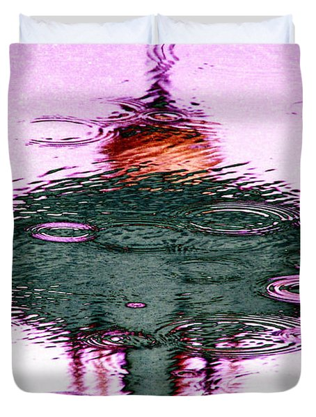Needle In A Raindrop Stack 2 Duvet Cover by Tim Allen