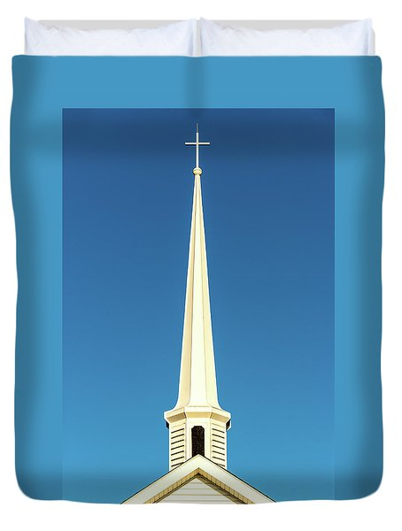 Duvet Cover featuring the photograph Needle-shaped Steeple by Onyonet  Photo Studios
