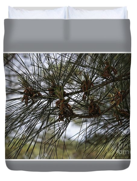 Needles Attached Duvet Cover by Roberta Byram