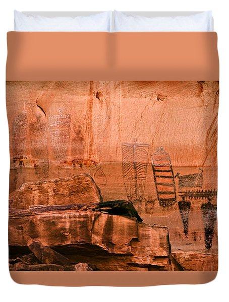 Needles Pictographs Duvet Cover