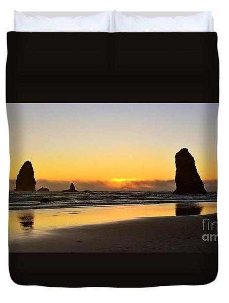 Needles Sunset Duvet Cover by Scott Cameron