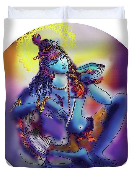 Neelakanth Shiva  Duvet Cover