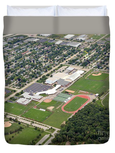 Duvet Cover featuring the photograph Neenah H.s. by Bill Lang