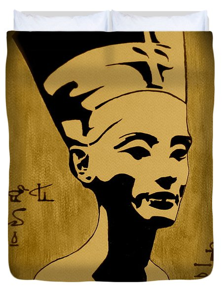 Nefertiti Egyptian Queen Duvet Cover