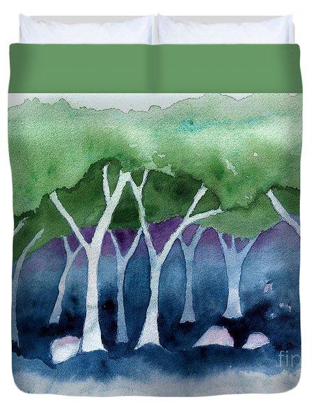Negative Thinking Makes A Woodland Scene Duvet Cover