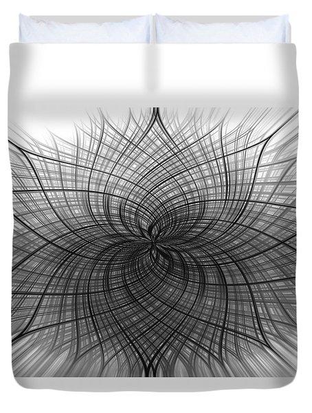 Negativity Duvet Cover by Carolyn Marshall