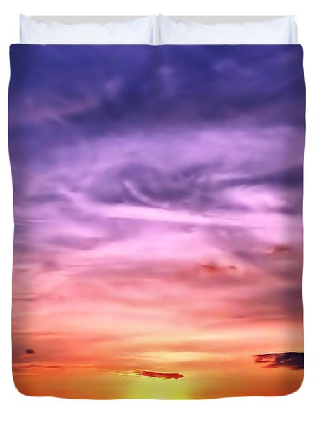 Negril Sunset Duvet Cover