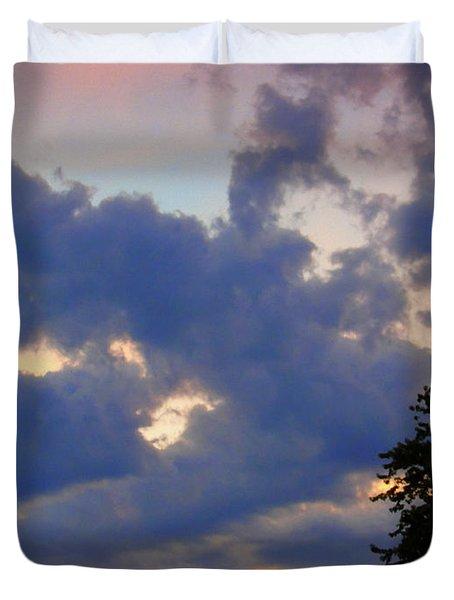 Neighborhood Sunset Duvet Cover