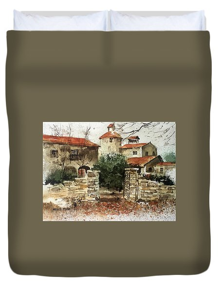 Neighbors Gate Duvet Cover