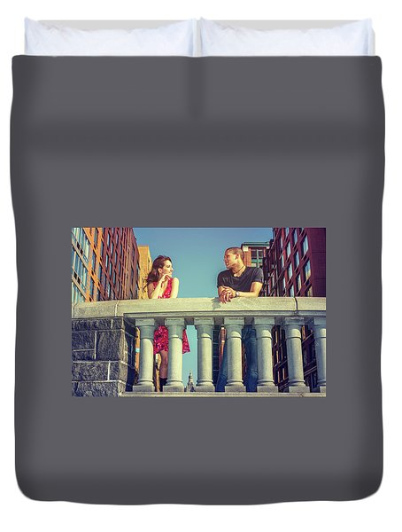 Neighbors Duvet Cover