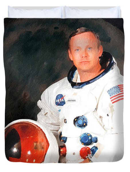 Duvet Cover featuring the photograph Neil Armstrong by Ericamaxine Price
