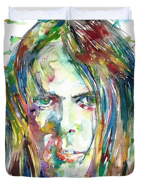 Neil Young Portrait Duvet Cover