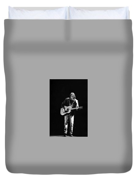 Neil Young Duvet Cover by Wayne Doyle