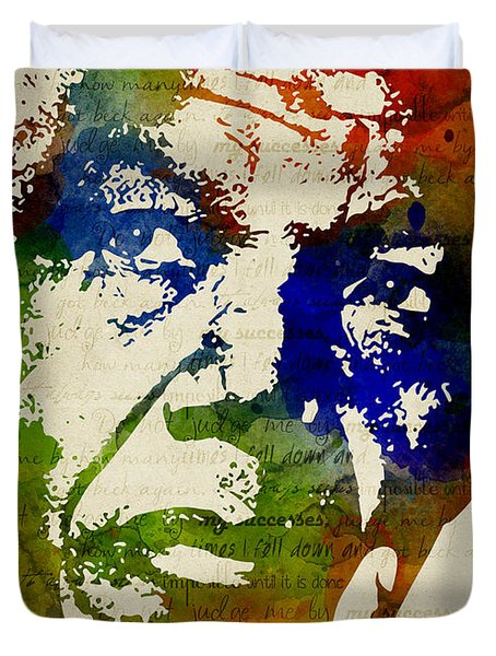 Nelson Mandela Watercolor Duvet Cover