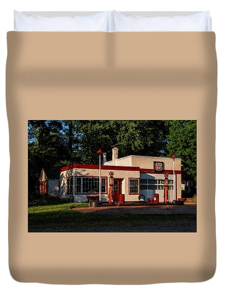 Nelsonville Phillips 66 Duvet Cover by Trey Foerster