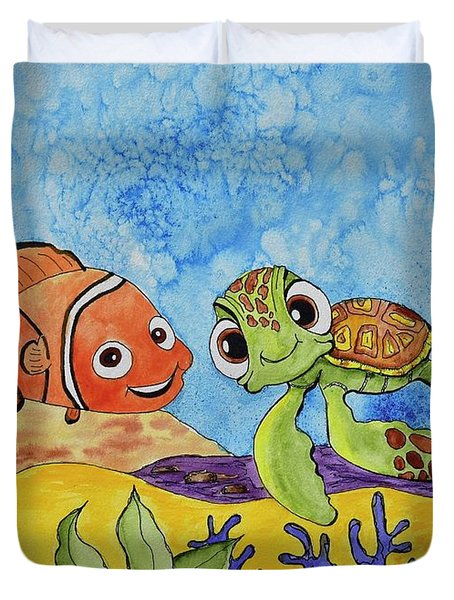 Nemo And Squirt Duvet Cover