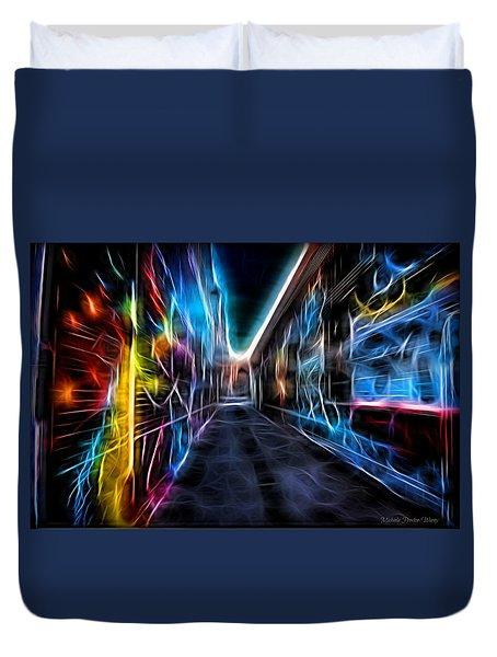 Neon Aleey Duvet Cover