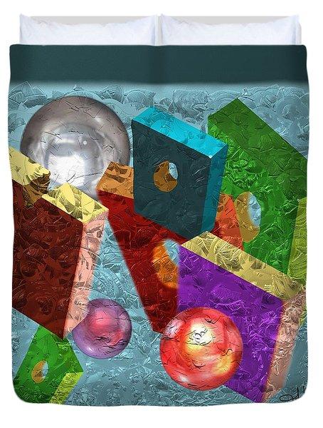 Neon Boxes Duvet Cover
