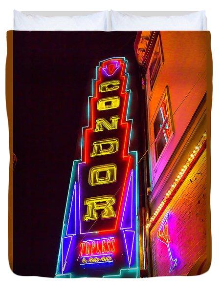 Neon Condor San Francisco Duvet Cover
