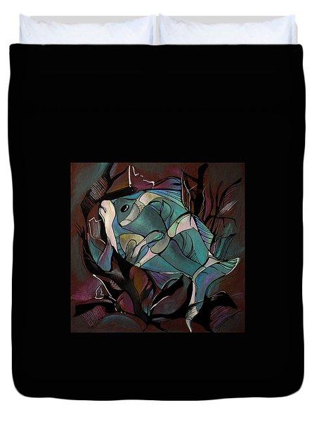 Neon Fish Duvet Cover by Deyana Deco