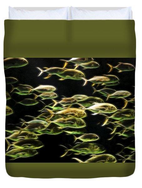 Neon Fish Duvet Cover
