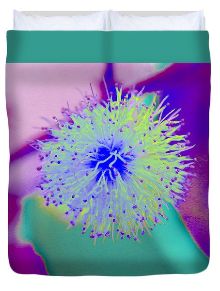 Neon Green Puff Explosion Duvet Cover