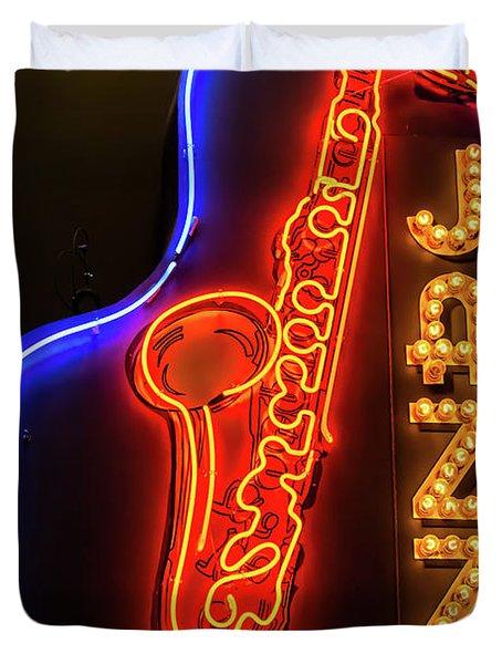 Neon Jazz Duvet Cover