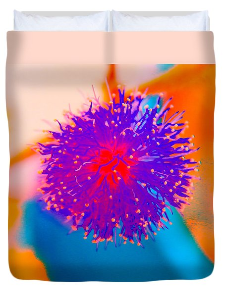 Neon Pink Puff Explosion Duvet Cover