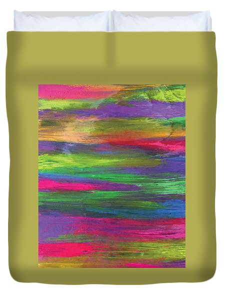 Neon Rainbow Duvet Cover