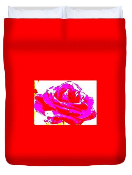 Neon Rose Duvet Cover