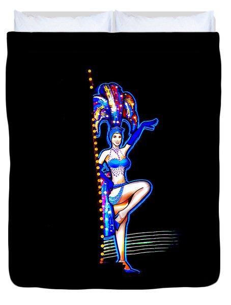 Neon Showgirl Duvet Cover