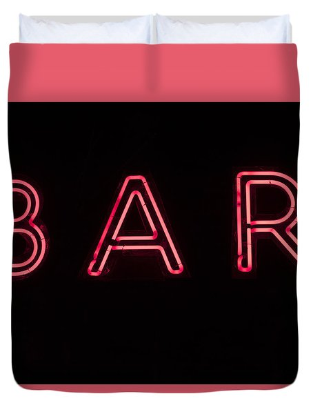 Neon Sign Duvet Cover