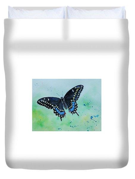 Neon Swallowtail Duvet Cover
