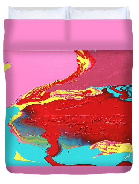 Neon Tide Duvet Cover