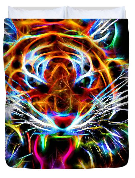 Neon Tiger Duvet Cover